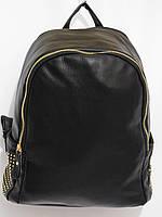 Рюкзак два отдела кож.зам черный, фото 1