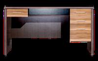 Стол письменный Милано вишня мемфис, зебрано глянец