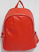 Рюкзак два отдела кож.зам красный, фото 1
