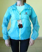 """Женская тонкая ветровка """"X-FIT"""" (77777) мешок голубой код 876А"""