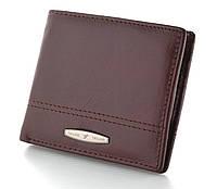 Мужской кожаный кошелек портмоне TAILIAN на кнопке натуральная кожа