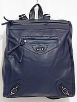 Рюкзак строгий кож.зам темо-синий, фото 1
