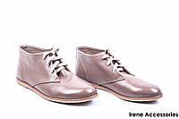 Ботинки женские кожаные WindRose (ботильоны низкие, внутри кожа)
