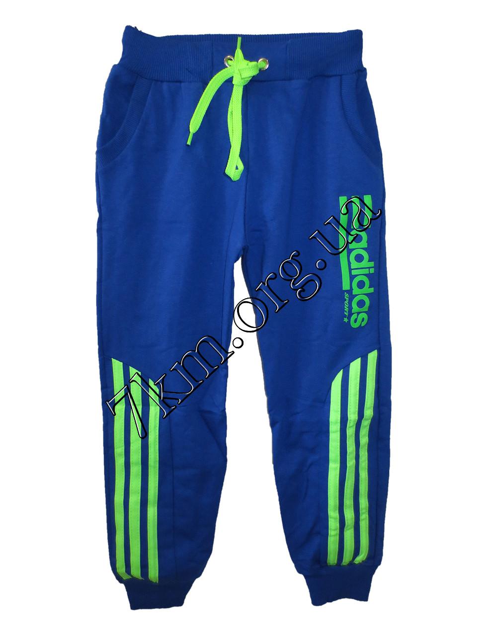 Спортивные штаны детские Реплика Adidas для мальчиков (5-8 лет) Темно трикотажные Синие