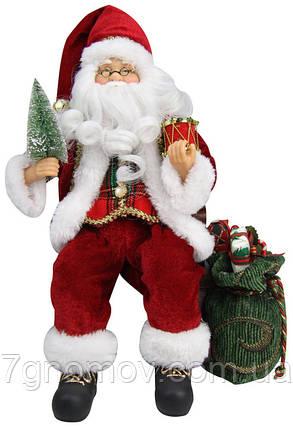 Дед Мороз под елку в кресле-качалке, 30,5 см., фото 2
