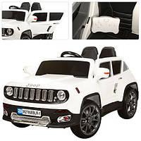 Детский электромобиль JEEP М 2766 EBLR-1: кожа, пульт 2.4G, EVA, 3-7км/ч - Белый- купить оптом