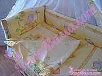 Набор детского постельного белья Bepino Слоник желтый 8 предметов, фото 1