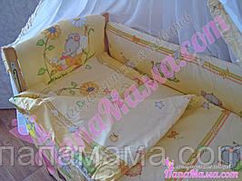 Набор детского постельного белья Bepino Слоник желтый 8 предметов