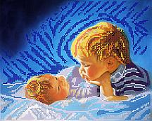 Схема для вышивки бисером POINT ART Братья, размер 30х24 см