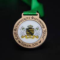 Медаль  акриловая с золотом
