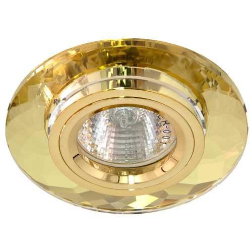 Точечный светильник Feron 8050-2 MR16 жёлтый/золото