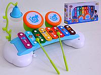 Игрушка Ксилофон с барабанами и колокольчиком
