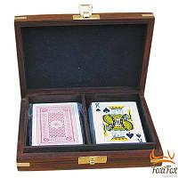 Набор карт в деревянном футляре Sea Club
