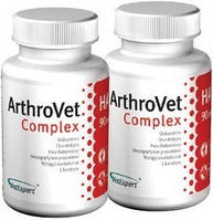 VetExpert  ArthroVet Complex Комплекс для собак мелких пород, кошек, лечение суставных хрящей и суставов 90 таб.