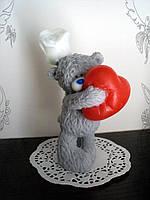 Мыло Мишка  с розой и сердцем