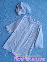 Крестильная рубашечка с шапочкой