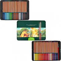 """Набор цветных художественных водорастворимых карандашей """"Renoir Fine Art Aqua"""" в металлической коробке"""