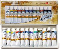 Набор масляных красок Ладога 12х18мл, ЗХК, фото 1