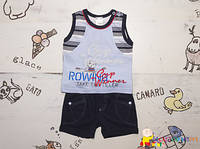 Стильный костюм майка шорты для мальчика Garden Baby (Гарден Беби)
