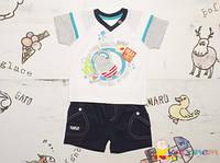 Костюм детский на лето р.74, 80 для мальчиков Garden Baby (Гарден Беби)