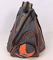 Треугольный школьный рюкзак серого цвета