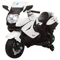 Детский мотоцикл BMW M 3208 EL-1: кожа, EVA-колеса, 12V, 70W, 6 км/ч - Белый-купить оптом