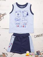Комплект детский на лето р.74,86 для мальчика майка шорты
