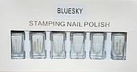 Набор лак-красок для стемпинга Bluesky STAMPING NAIL POLISH 6 цв (белый)