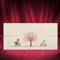 Забавные приглашения на свадьбу с велосипедами (арт. 2714)