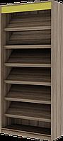 Шкаф открытый с наклонными полками, мебель