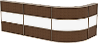Стол-кафедра с декор. Элементами (для 3х чел.), мебель
