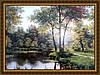 Картина Любимое место 400х600мм №384 в багетной рамке