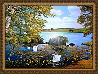 Картина Лебединая песня 400х600мм №345