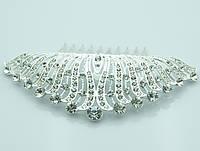 Неповторимые гребни для фаты с кристаллами. Свадебные аксессуары оптом. 227