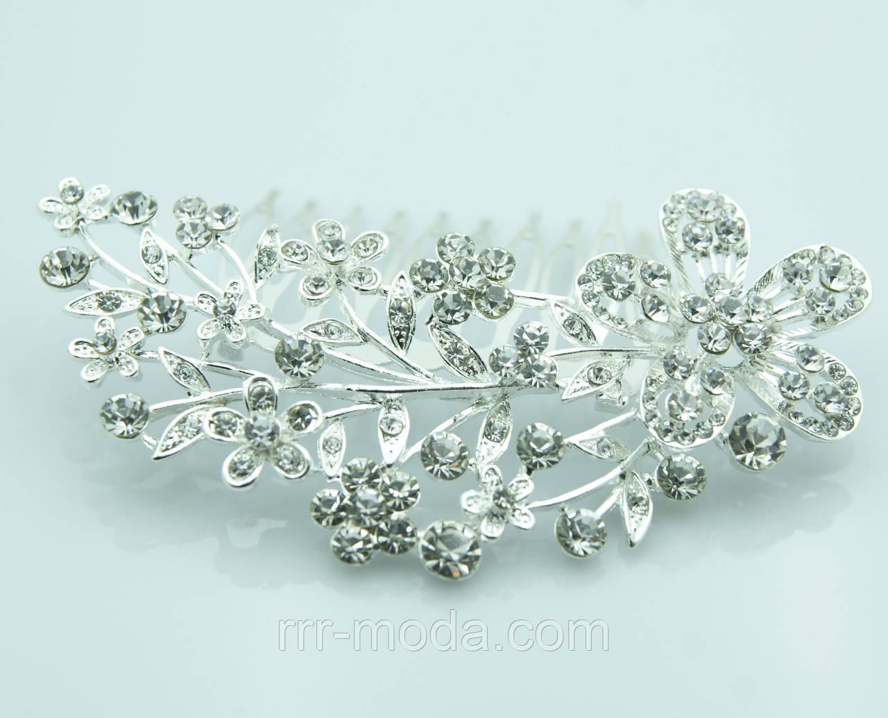 Свадебный аксессуар -гребень для невест оптом. Свадебные украшения оптом RRR недорого. 243