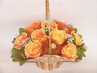 "Букет из конфет.Корзина роз ""Золото""№9+3"