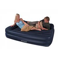 Двухспальный надувной матрас-кровать 66720 Intex 157х203х47 см