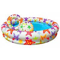 Детский бассейн надувной 59460 122х25 см с мячом и кругом