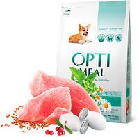 OptiMeal Puppies - корм ОптиМил с индейкой для щенков всех пород, 12кг