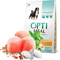 OptiMeal - корм ОптиМил с курицей для собак крупных пород, 12 кг