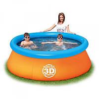 Бассейн наливной с 3D очками 57244 BESTWAY 213-66 см