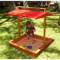 Детская песочница с крышкой 5