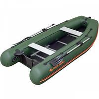 Лодка надувная ПВХ, килевая, 4-х местная, моторная Kolibri КМ-330 DSL