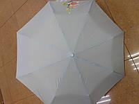 Зонт однотонный полуавтомат с маленьким цветочком