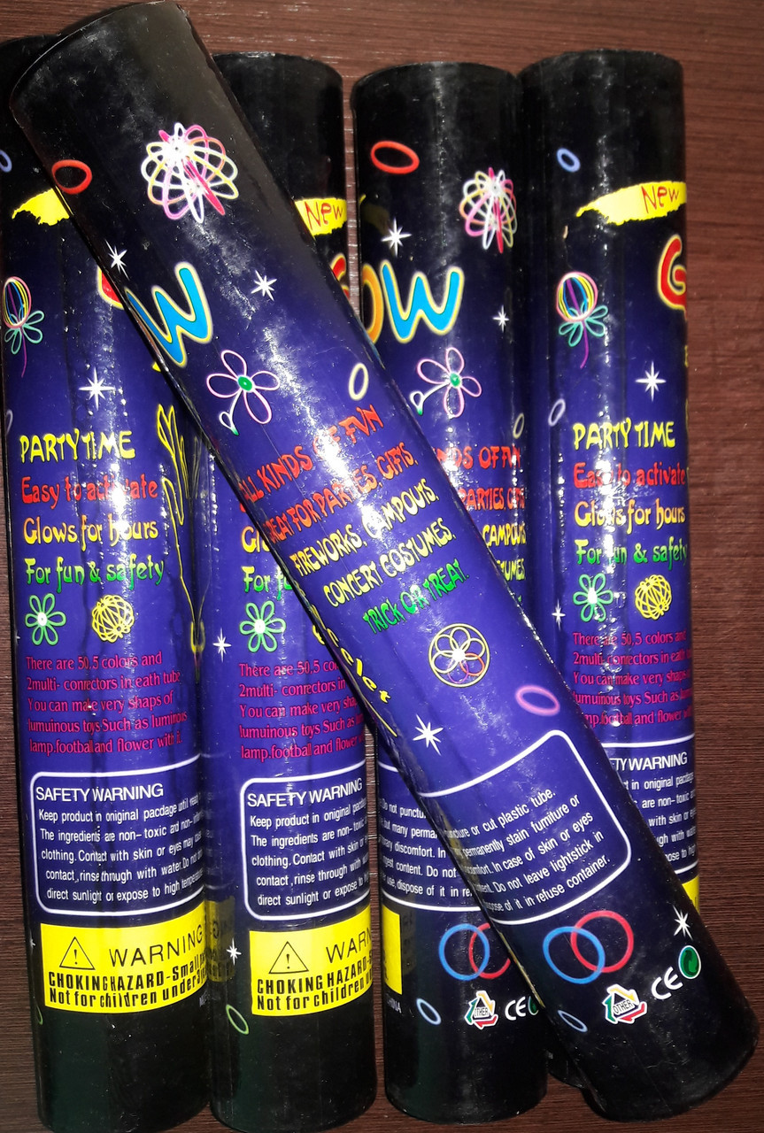 Светящиеся палочки, неоновые 50 шт