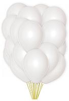 Воздушые шары белые перламутровые 100 шт. 13 см.