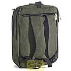 Сумка-рюкзак Fashion трансформер 14 л зеленый 50164, фото 3