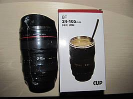 Чашка - термос обьектив Canon - подарок для фотографа!