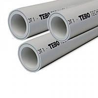 Труба армированная STABI (зачистная) Ø20мм TEBO (серый)
