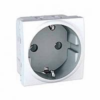 Розетка Schneider-Electric Unica с заземлением белый (MGU3.036.18)